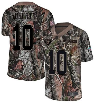 Nike Raiders #10 Seth Roberts Camo Men\'s Stitched NFL Limited Rush Realtree Jersey