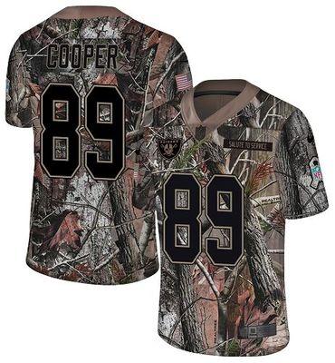 Nike Raiders #89 Amari Cooper Camo Men\'s Stitched NFL Limited Rush Realtree Jersey