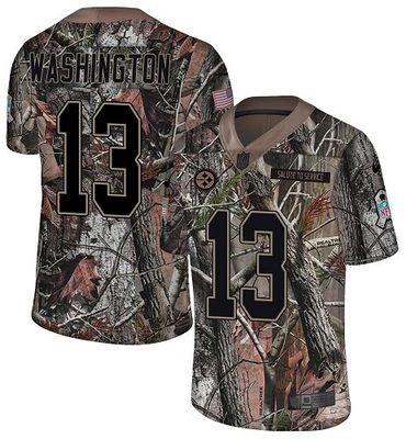 Nike Steelers #13 James Washington Camo Men's Stitched NFL Limited Rush Realtree Jersey