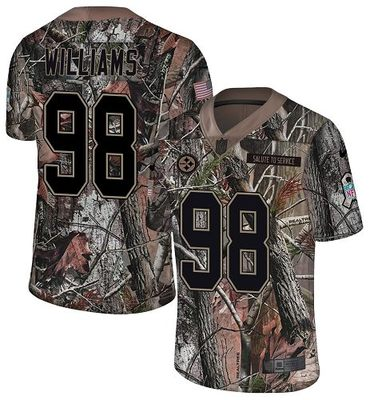 Nike Steelers #98 Vince Williams Camo Men's Stitched NFL Limited Rush Realtree Jersey