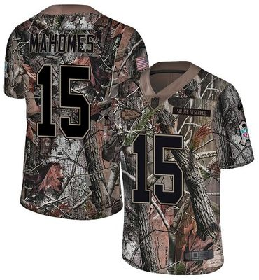 Nike Chiefs #15 Patrick Mahomes Camo Men's Stitched NFL Limited Rush Realtree Jersey