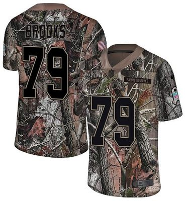 Nike Eagles #79 Brandon Brooks Camo Men's Stitched NFL Limited Rush Realtree Jersey