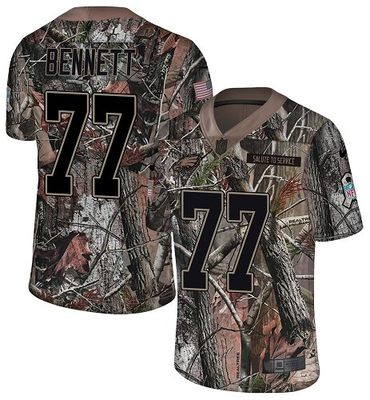 Nike Eagles #77 Michael Bennett Camo Men's Stitched NFL Limited Rush Realtree Jersey