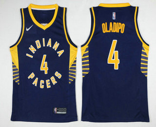 timeless design 9d712 d1ef6 Men's Indiana Pacers #4 Victor Oladipo New Navy Blue 2017 ...
