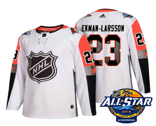 Men's Arizona Coyotes #23 Oliver Ekman-Larsson White 2018 NHL All-Star Stitched Ice Hockey Jersey