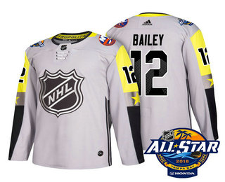 quality design 30f84 e9a88 Men's New York Islanders #12 Josh Bailey Grey 2018 NHL All ...