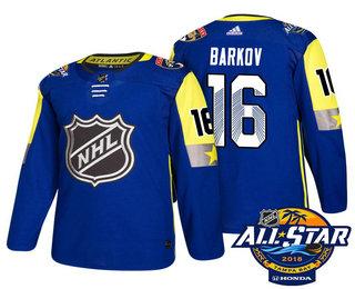 Men's Florida Panthers #16 Aleksander Barkov Blue 2018 NHL All-Star Stitched Ice Hockey Jersey