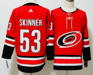 23e565be3 Men's Carolina Hurricanes #53 Jeff Skinner Red 2017-2018 Hockey Stitched  NHL Jersey