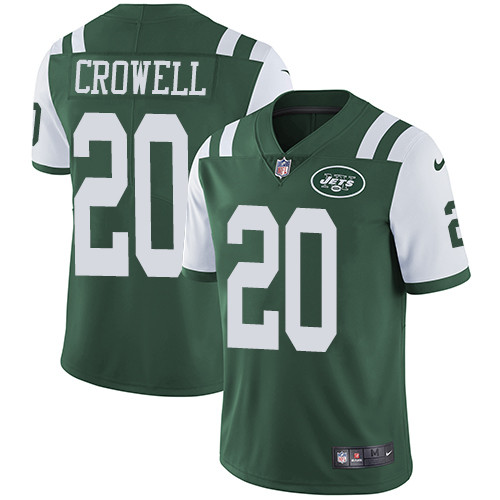 Nike New York Jets #20 Isaiah Crowell Green Team Color Men's Stitched NFL Vapor Untouchable Limited Jersey