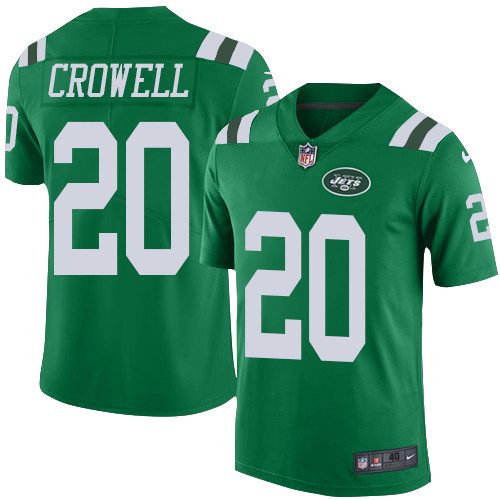 Nike New York Jets #20 Isaiah Crowell Green Men\'s Stitched NFL Elite Rush Jersey