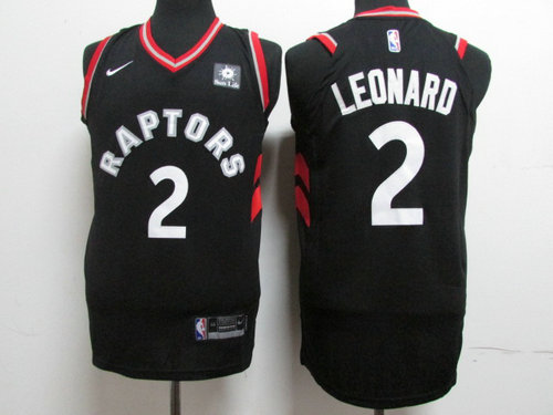 Nike Toronto Raptors 2 Kawhi Leonard Black NBA Authentic Statement Edition Jersey