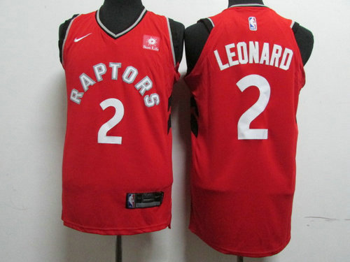 Nike Toronto Raptors 2 Kawhi Leonard Red NBA Authentic Icon Edition Jersey