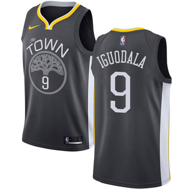 Men's Golden State Warriors #9 Authentic Andre Iguodala Black Statement Edition Nike NBA Jersey
