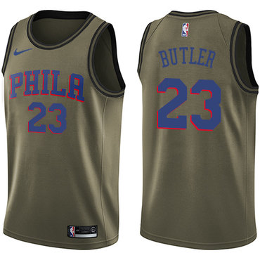 5b585299d32 Men s Philadelphia 76ers 23 Jimmy Butler Nike White 2018-19 Swingman ...