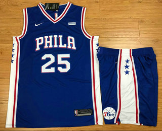 d14aa205aba Men's Philadelphia 76ers #25 Ben Simmons Royal Blue 2017-2018 Nike Swingman  Stubhub Stitched NBA Jersey With Shorts