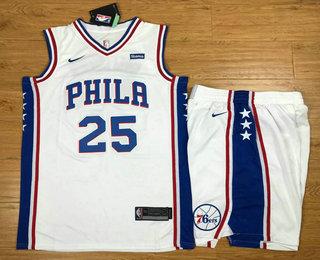 Philadelphia 76ers #21 Joel Embiid Jersey Swingman Mens Vest Swing Sportswear