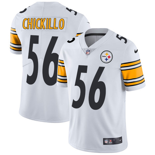 Youth Pittsburgh Steelers #56 Anthony Chickillo White Nike NFL Road Vapor Untouchable Limited Jersey