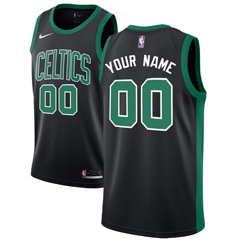 Youth Customized Boston CelticsAuthentic Black Nike NBA Statement Edition Jersey