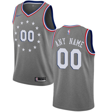 Youth Customized Philadelphia 76ers Swingman Gray Nike NBA City Edition  Jersey f362527cf
