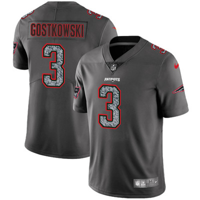 Nike New England Patriots #3 Stephen Gostkowski Gray Static Men\'s NFL Vapor Untouchable Game Jersey