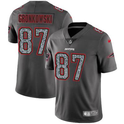 Nike New England Patriots #87 Rob Gronkowski Gray Static Men\'s NFL Vapor Untouchable Game Jersey