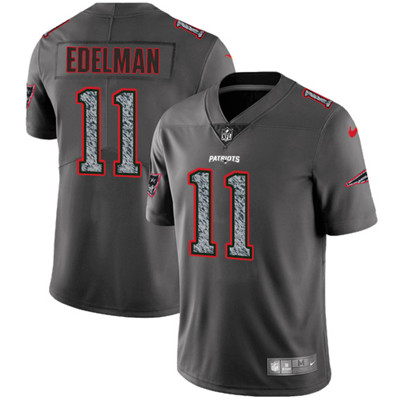 Nike New England Patriots #11 Julian Edelman Gray Static Men\'s NFL Vapor Untouchable Game Jersey