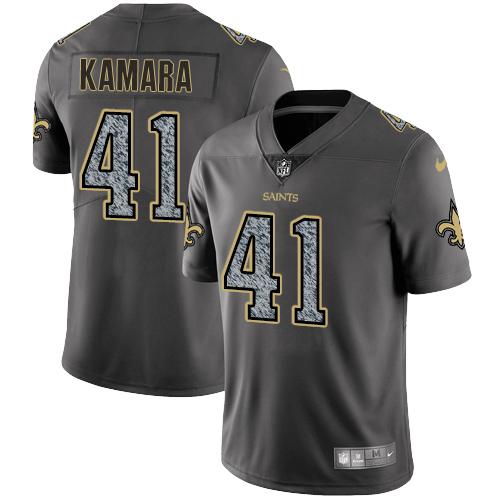 Nike New Orleans Saints #41 Alvin Kamara Gray Static Men\'s NFL Vapor Untouchable Game Jersey