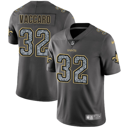 Nike New Orleans Saints #32 Kenny Vaccaro Gray Static Men\'s NFL Vapor Untouchable Game Jersey
