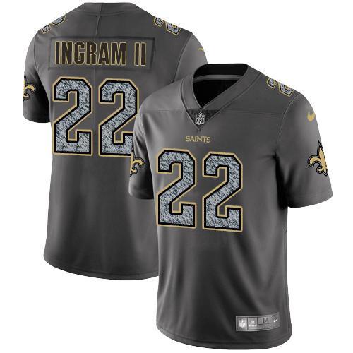 Nike New Orleans Saints #22 Mark Ingram II Gray Static Men\'s NFL Vapor Untouchable Game Jersey