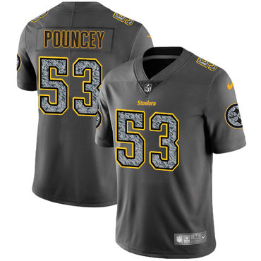 Nike Pittsburgh Steelers #53 Maurkice Pouncey Gray Static Men\'s NFL Vapor Untouchable Game Jersey