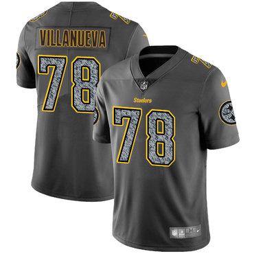 Nike Pittsburgh Steelers #78 Alejandro Villanueva Gray Static Men\'s NFL Vapor Untouchable Game Jersey
