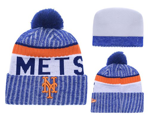 MLB New York Mets Logo Stitched Knit Beanies 002
