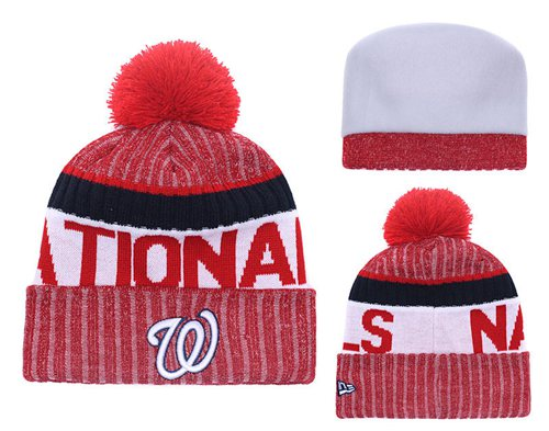 MLB Washington Nationals Logo Stitched Knit Beanies 001