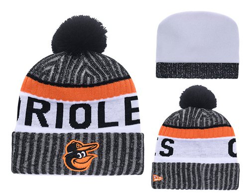 MLB Baltimore Orioles Logo Stitched Knit Beanies 003