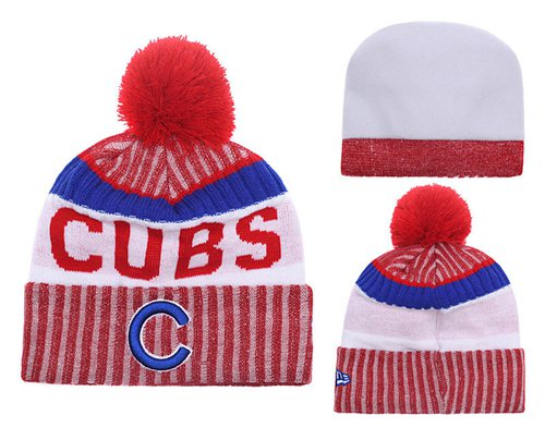 MLB Chicago Cubs Logo Stitched Knit Beanies 005