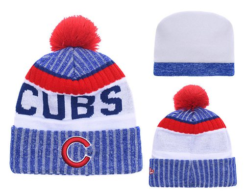 MLB Chicago Cubs Logo Stitched Knit Beanies 008