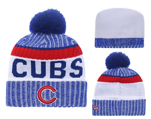 MLB Chicago Cubs Logo Stitched Knit Beanies 009