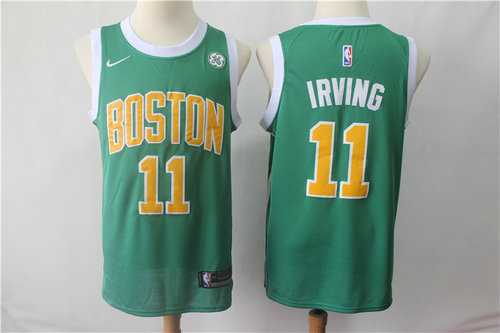 719579a20 Boston Celtics 11 Kyrie Irving Nike Green 2018-19 Swingman Earned Edition  Jersey