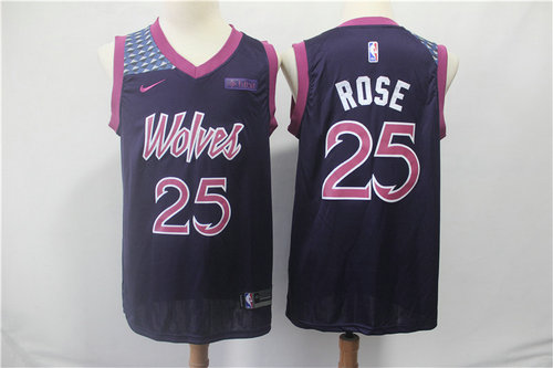 Minnesota Timberwolves 25 Derrick Rose Nike Purple 2019 Swingman City Edition Jersey