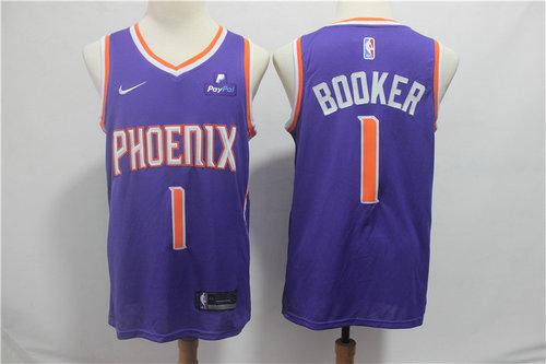 ecc9e003c71 Men s Phoenix Suns Devin 1 Booker Nike Purple 2019 Swingman City Edition  Jersey