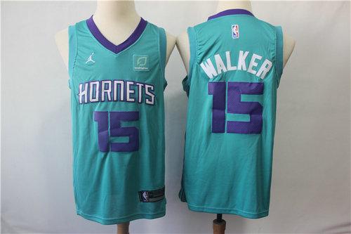 0876e5bad Nike Hornets 15 Kemba Walker Teal NBA Jordan Swingman Jersey