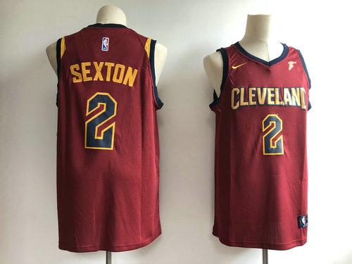 046008c9379 Men's Cleveland Cavaliers 2 Collin Sexton Swingman Icon Edition Jersey