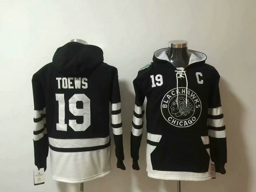 Chicago Blackhawks #19 Jonathan Toews 2019 Winter Classic Authentic New Black All Stitched Hoodie