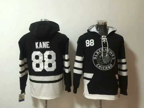 Chicago Blackhawks #88 Patrick Kane 2019 Winter Classic Authentic New Black All Stitched Hoodie