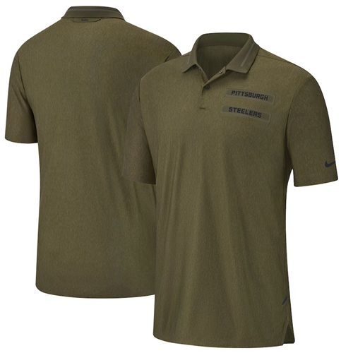 Pittsburgh Steelers Nike Salute to Service Sideline Polo Olive