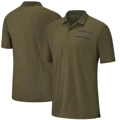Tampa Bay Buccaneers Nike Salute to Service Sideline Polo Olive