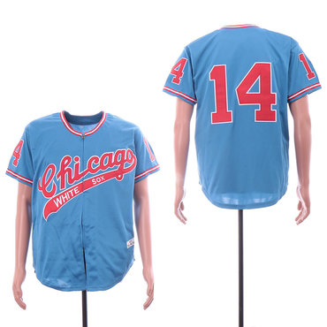 Men's Chicago White Sox #14 Bill Melton Light Blue 1972 Throwback Jersey