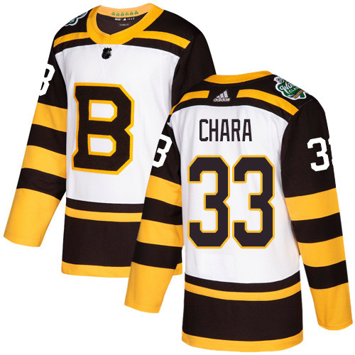 Adidas Bruins #33 Zdeno Chara White Authentic 2019 Winter Classic Stitched NHL Jersey