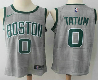 5fddc6eb11383 Men's Boston Celtics #0 Jayson Tatum Gray NBA Swingman City Edition Jersey