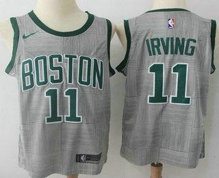 ba0f09a52 Men s Boston Celtics  11 Kyrie Irving Gray NBA Swingman City Edition Jersey